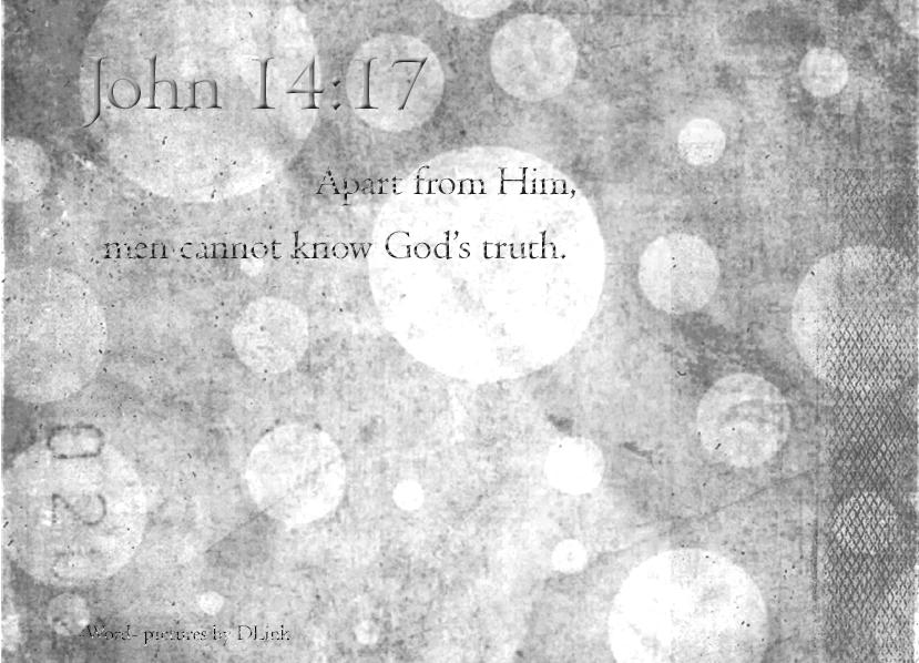 John 14;17
