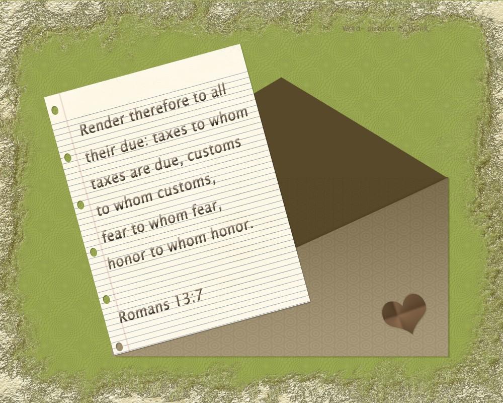 Romans 13;7