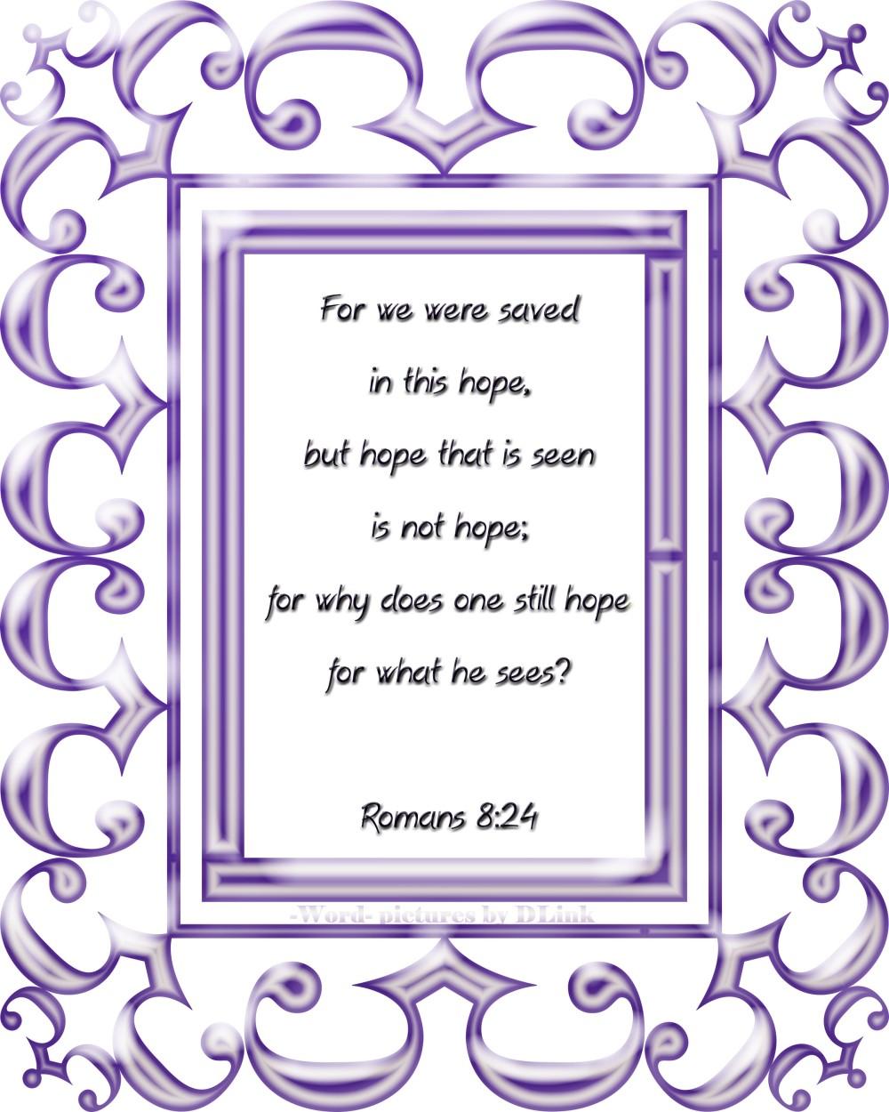 Romans 8;24