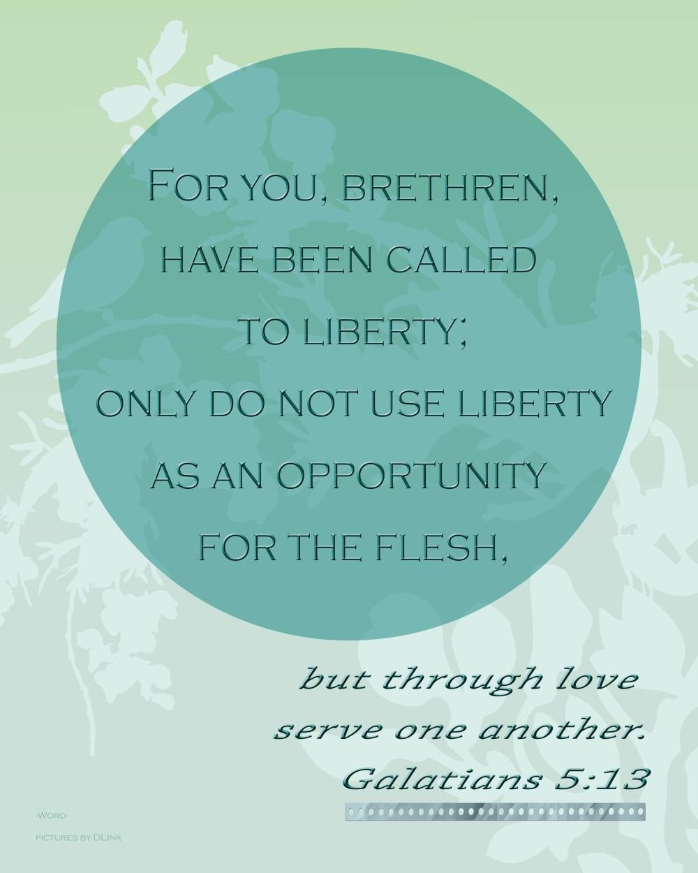 Galatians 5;13