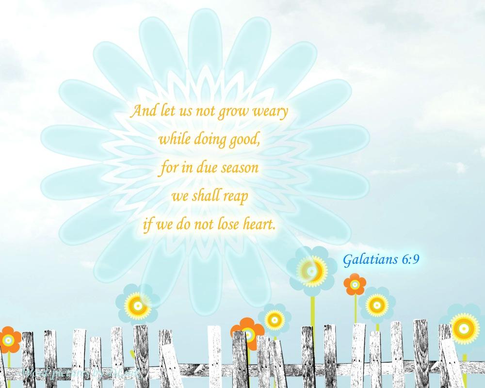 Galatians 6;9
