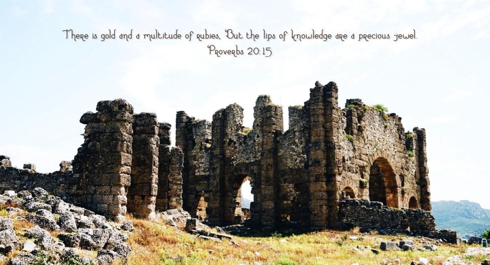 Proverbs 20;15